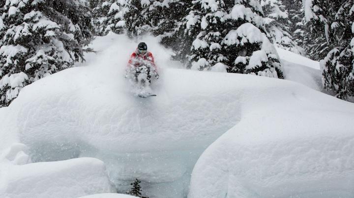 Skifahren im Großformat